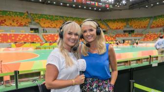 Julie Strømsvåg og Randi Gustad ledet TV2-studioet under håndballkampene i Rio