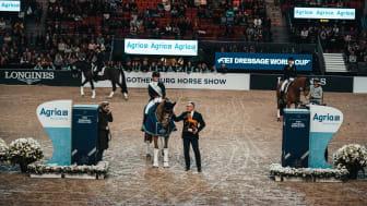 Agria Djurförsäkring förlänger sitt samarbete med Gothenburg Horse Show med 5 år. Foto: Johan Lilja