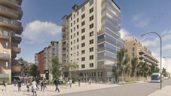 I kv Förseglet på Öster Mälarstrand byggs 183 lägenheter som beräknas vara klara i slutet av 2024.