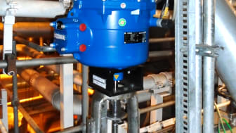A CVA actuator on a control valve.