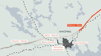 Delsträcka Ostlänken