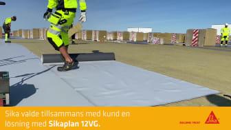 Axfoodkoncernen bygger ett enormt logistikcenter med takduk Sikaplan® från Sika Sverige AB