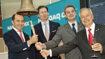 Cavotec team  on the the first day of trading on the NASDAQ OMX Stockholm