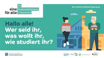 Die TH Wildau beteiligt sich an der bundesweit größten und wichtigsten Studierendenbefragung – los geht es an den Brandenburger Hochschulen am 19. Mai 2021. (Bild: Die Studierendenbefragung in Deutschland)