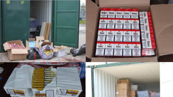 Cigarettes and tobacco found at storage units in Wrexham