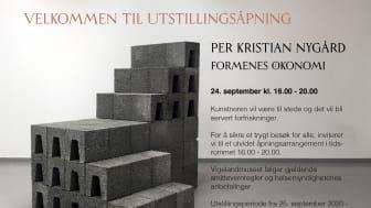 Per Kristian Nygård - Formenes økonomi. Utstilling Vigelandmuseet 25.09.2020 - 14.02.2021