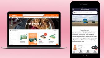 Mat.se och Mathem har tagit initiativ för att göra det enkelt att hitta Från Sverige-märkta varor i online-butikerna. Med tydligt ursprungsmärke vid produkten och sortering är det enkelt att hitta och välja Från Sverige-märkta varor.