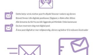 Bydel Stovner sender brev digitalt