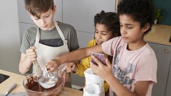 Barn som använder Carrot Kitchen