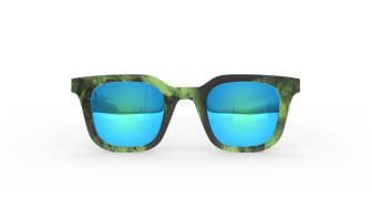 Square Bold - Green - Mirror Blue