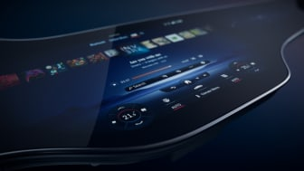 EQS med unik MBUX Hyperscreen