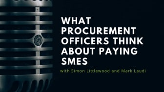 What procurement officers think about paying SMEs