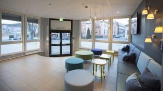 Inngangsparti på Kontorhuset Bragernes i Drammen.