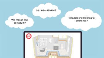 Webbutbildningen Säkra våtrum är en introduktion till branschreglerna som bygger vattentäta badrum. Perfekt för beställare, besiktningsmän, byggaktörer och andra som kommer i kontakt med våtrumsregler i sin yrkesroll.