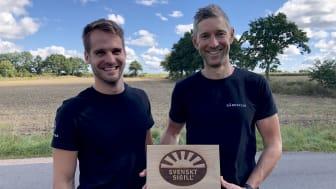 Mikael Olenmark Desalles och Johan Lundquist är de klimatsmarta fiskbönderna som vinner Årets klimatbonde