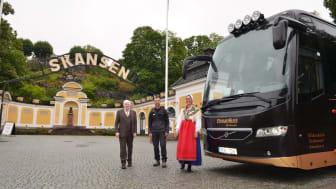 Pressbild, EkmanBuss Flexibussitet i stolt samarbete med Skansen