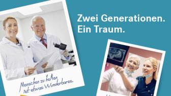 """Das neue Gewinnspiel """"Zwei Generationen. Ein Traum."""" geht der Frage nach, warum so viele Heilberuler ihren Beruf """"vererben""""."""