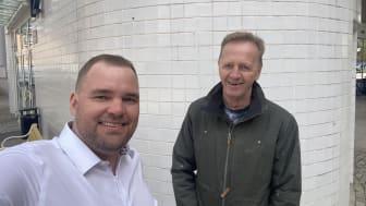 Grundare av Collactivate AB, Tomas Green och Geir Andersen. Foto; privat.
