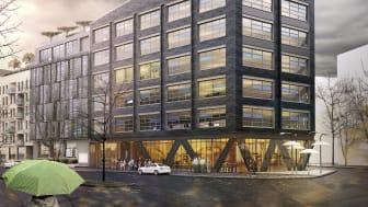 Castellums kontorsbyggnad blir först i Norden med The WELL Building Standard®. Illustration: Kanozi Arkitekter