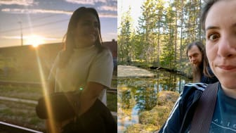 Ana Vielman, Giorgia Bigazzi och Jakub Tuma blev ofrivilliga turister i Dalarna. Foto: Visit Sweden.