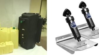 Plastic boat fuel tanks(LEFT) / Trim tabs for boat position control