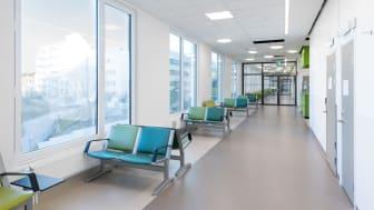 Väntrum fönstersida, akutmottagningen Södersjukhuset