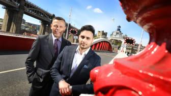 Northumbria's Enterprise Manager Graham Baty (left) with graduate start-up Hasan Hamid