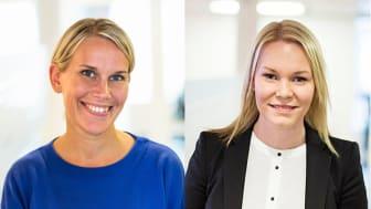 Karolina Brick, miljöchef och Anna Rosén affärsutvecklare inom fastighetsförvaltning på Riksbyggen.