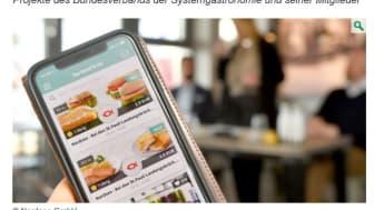 Screenshot von der Website des Lebensmittelverbands Deutschland