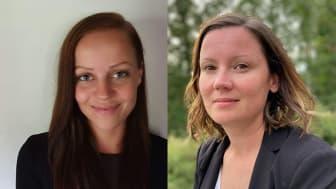 Alma Eklund (t.v) ny HR-konsult och Camilla Eklund (t.h) ny lönekonsult inom Watma Education