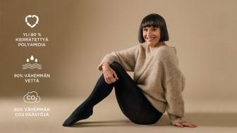 Myös sukkahousujen valinta voi olla ympäristöteko – Norlyn tuo kauppoihin kierrätyskuidusta valmistetut sukkahousut