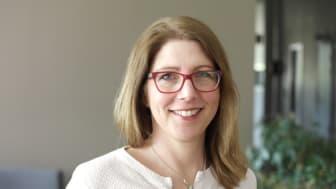 Erika Boström har en gymnasielärarexamen i ämnena matematik, naturkunskap och biologi. Hon disputerar i matematikdidaktik den 9 juni. Foto: Ingrid Söderbergh