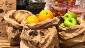Matavfallspåsar i fruktdisken ska minska plastanvändningen