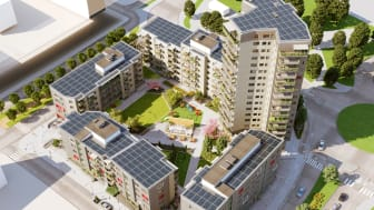 The eco-friendly Mars neighborhood in Trollhättan with 177 apartments is financed with green bonds