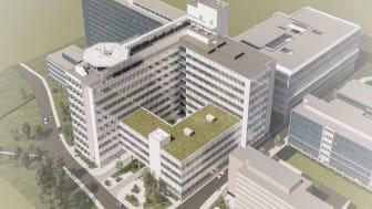 Ny vårdbyggnad vid Danderyds sjukhus