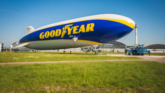 Goodyear Blimp återvänder till Europa