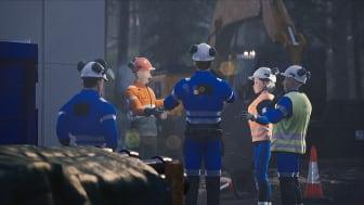 Arbeidslag diskuterer i forkant av arbeid. Bildet er hentet for det nylanserte sertifiseringskurset i Varme arbeider.