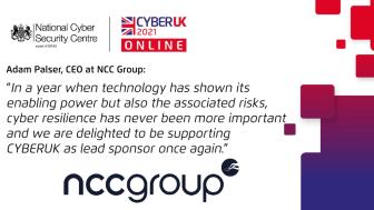 CYBERUK2021 NCC Group lead sponsor