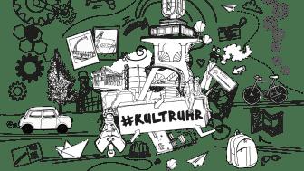 Ausmalpostkarte #KULTRUHR