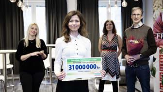 Från vänster: Jenny Wass och Isadora Wronski från Greenpeace; Miriam Lundqvist och Johan Oljeqvist, Fryshuset