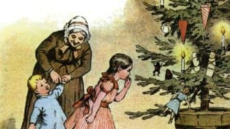 Der er julehygge i de tre første advent-weekender på Frederikssund Museum, og særligt den 14. - 15. december bliver der gang i juleværkstederne, når nisserne inviterer til julerier. Illustration: ROMU
