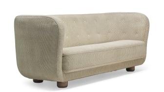 Flemming Lassen: A rare three seater sofa