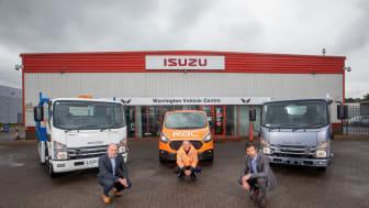 L-R: Phil Ryan (RAC), Ben Aldous (RAC), Pete Murphy (Isuzu Truck UK Ltd)