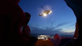 48 timmar i en livflotte - unik räddningsövning