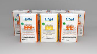 Finja Betongs breda kalksortiment nu i nya säckar