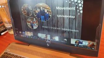 Movements HR-chef Helena Estling håller Movements självledarskapsprogram via Teams.