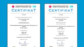 ASSA Motorlås 840C/850C – certifierade i låsklass 4 och 5 SSF 3522:1