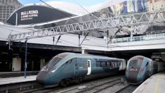 Hitachi Rail's new intercity trains for Avanti West Coast, shown at Birmingham New Street Station