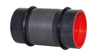 Das neue HKD KE-Futterrohr kann aufgrund der verschiebbaren Lippendichtungen uneingeschränkt in Elementwänden verbaut werden