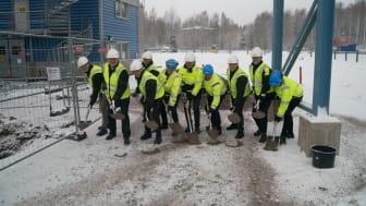 Första spadtaget för utbyggnad av AkzoNobels anläggning i Kvarntorp utanför Örebro har tagits.